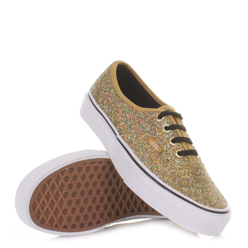 womens vans authentic glitter gold micro dots