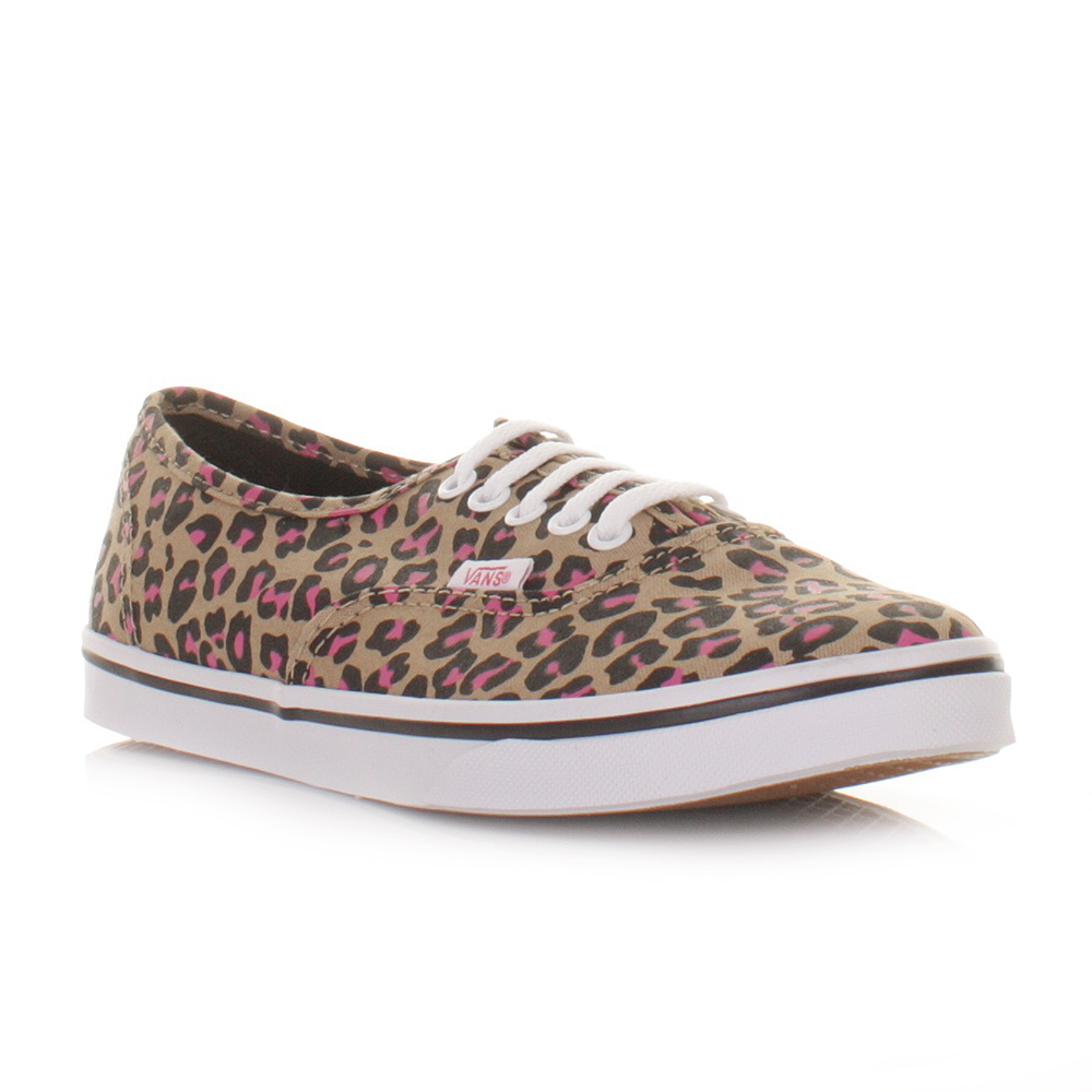 womens vans black & brown authentic lo pro leo trainers