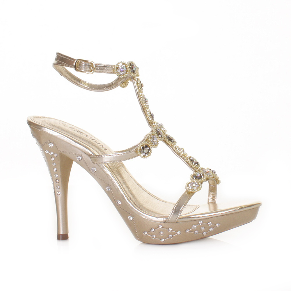 Prom Heels - Wedding Shoes Prom Shoes High Heels Dahlia Gold
