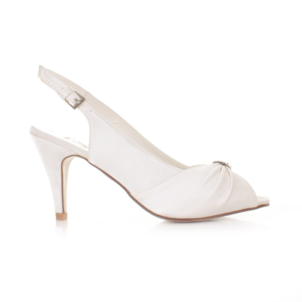 wedding shoe size 3 8 pale ivory satin slingback wedding shoes with