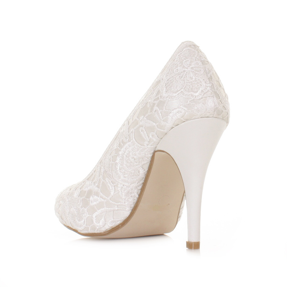 womens lace overlay satin white pale wedding