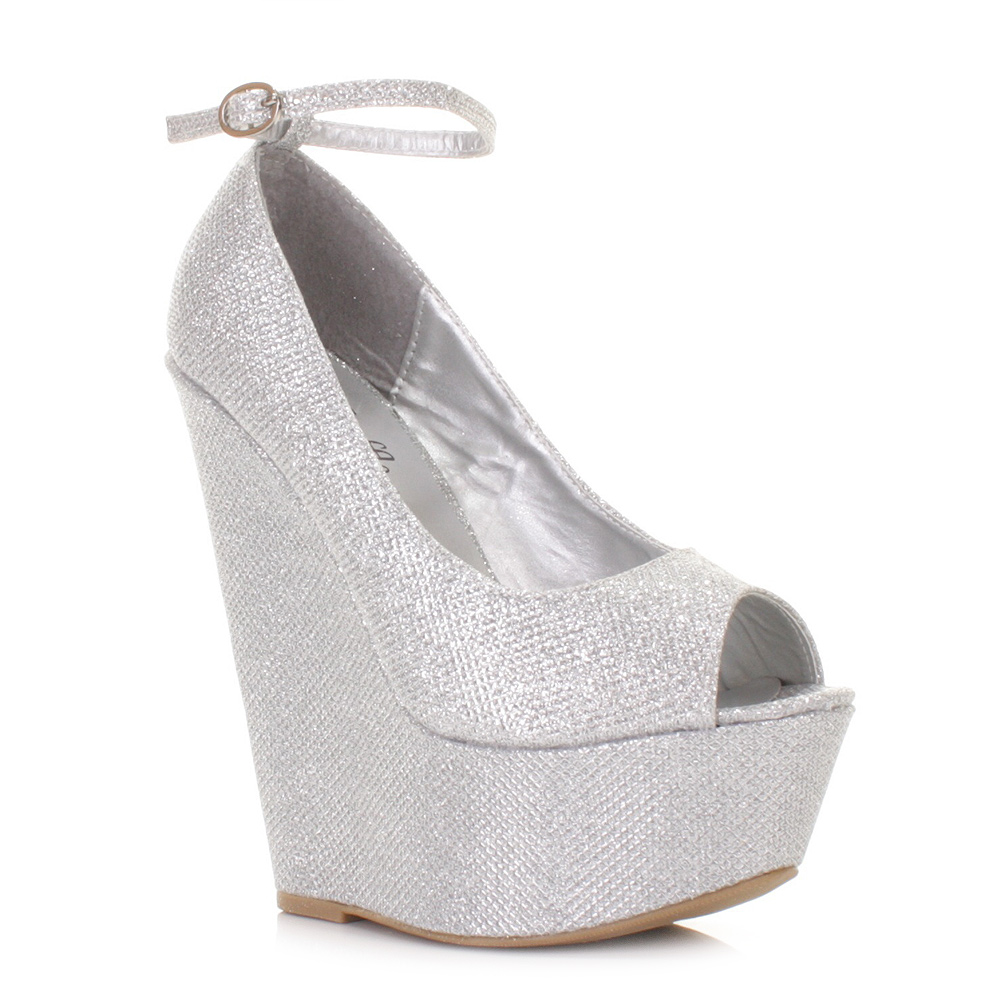 I wore these shoes for my wedding in July and I LOVED THEM. The heel it not too high and is very comfortable. These shoes have the prettiest sparkle to them and they really stand out. I had a lot of compliments on them.