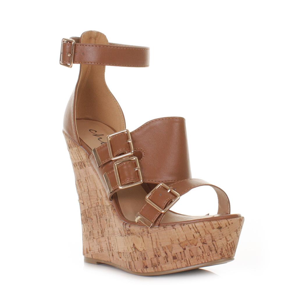 wedge womens high heel cork gladiator platform sandals