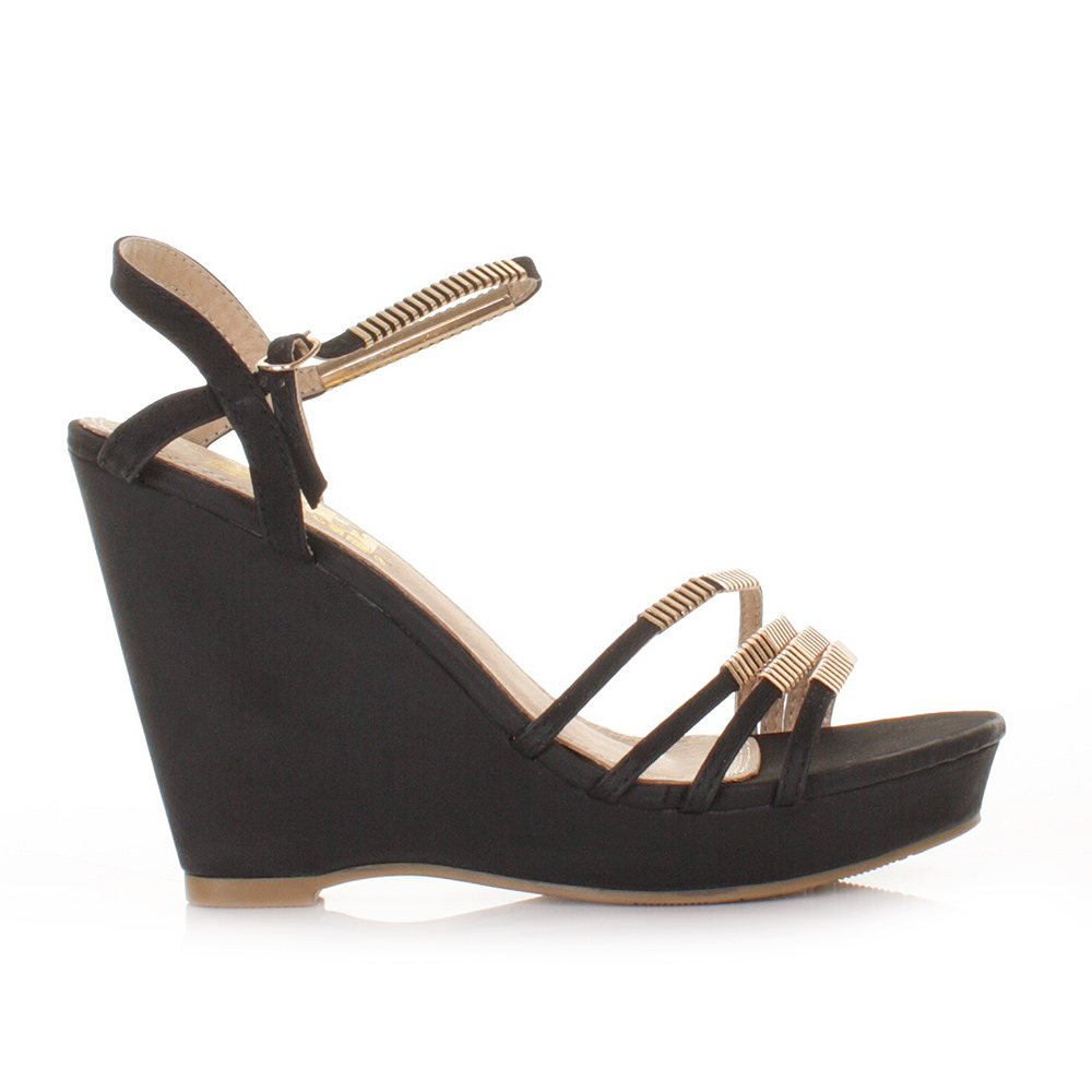 black strap wedge heels - photo #30