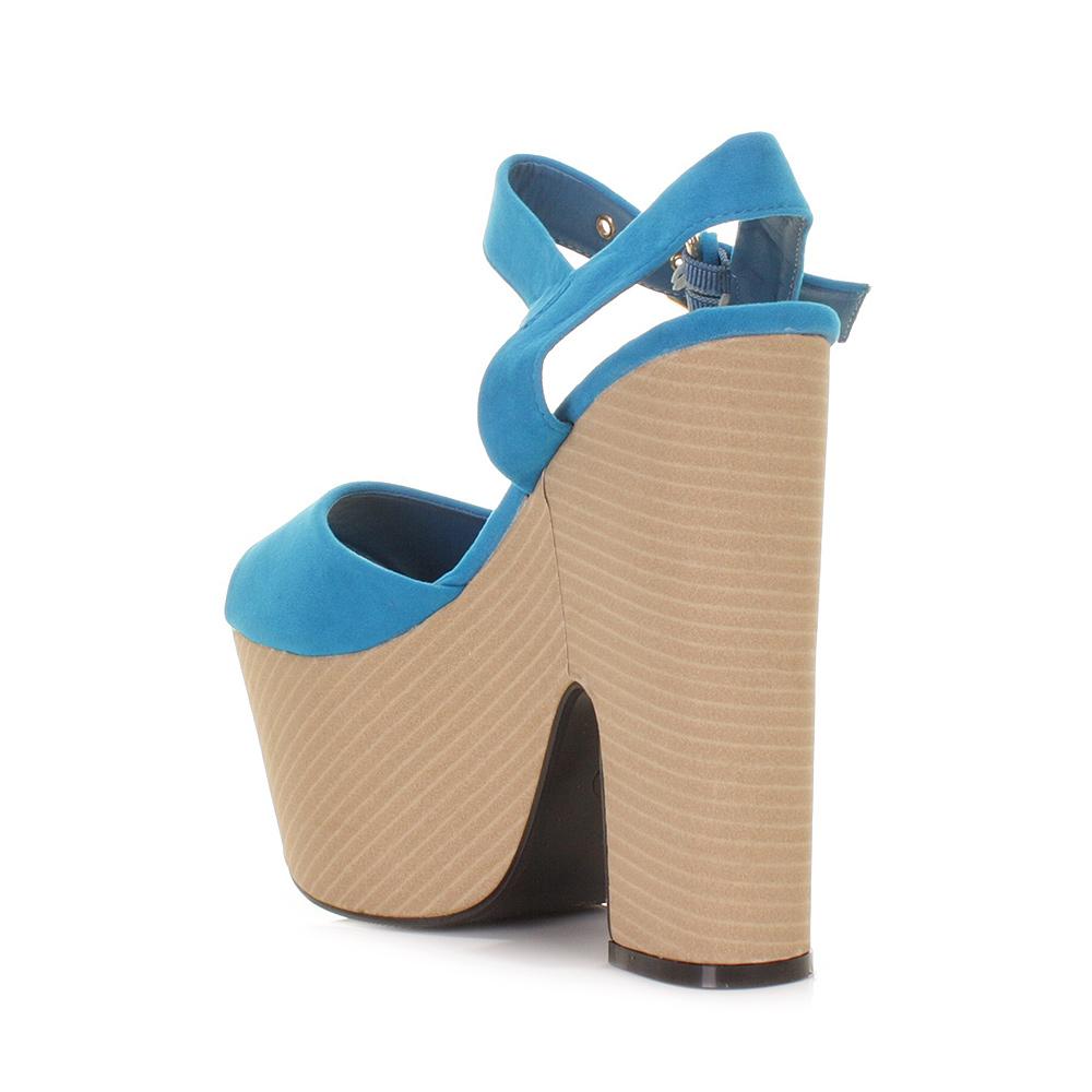 Wedge High Heels - Wedges High Heels Platforms Cheap Womens Shoes Amber Blue Suede