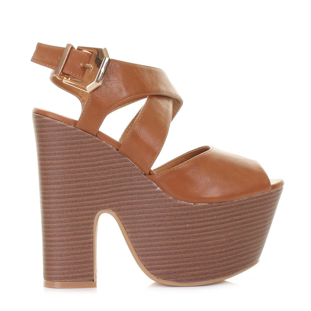 Tan Platform Heels | Tsaa Heel