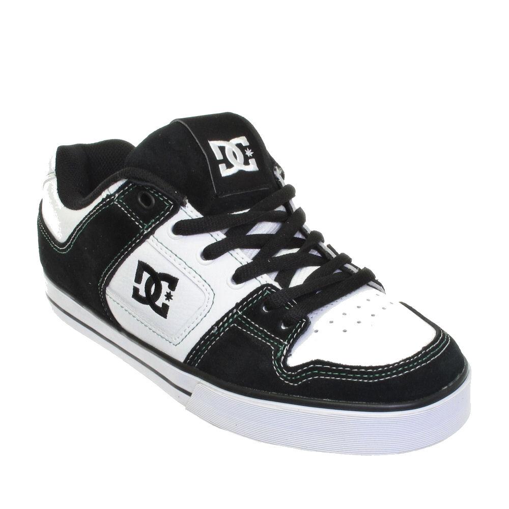 dc shoes mens slim white black skate trainers size 7