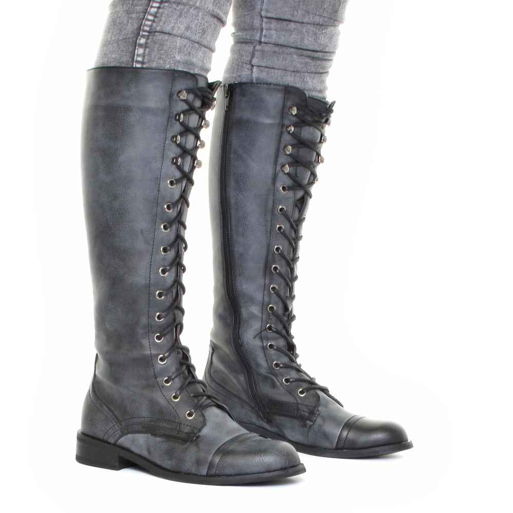 Simple Womens Tall Hiking Boot  C 191020 Knee High Lace Up Chippahwa Boot
