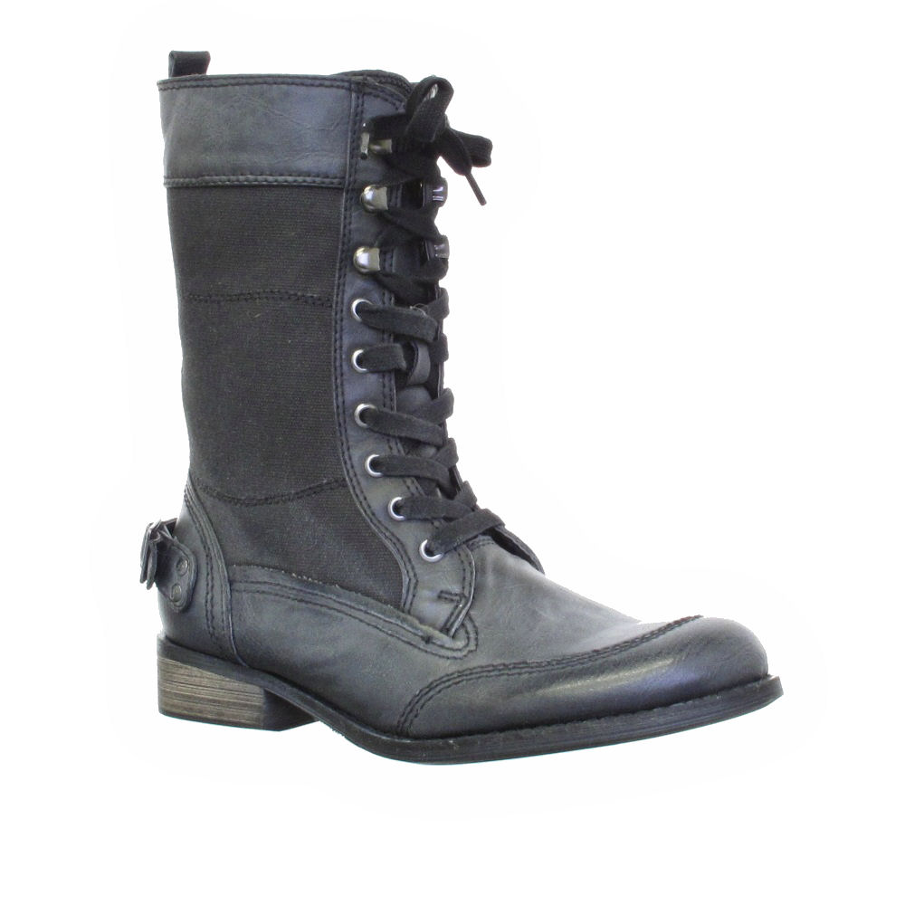 womens firetrap designer leather lace up army