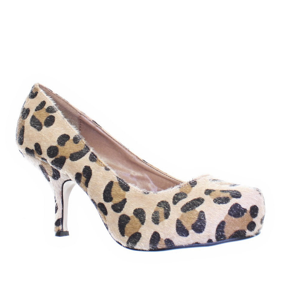Leopard Print Kitten Heel Shoes