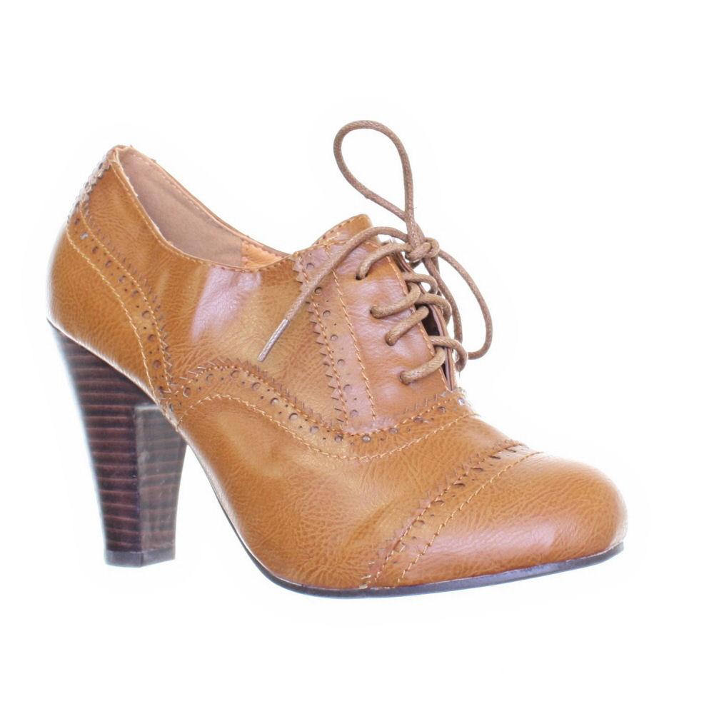 Lace Up Brogue Heels