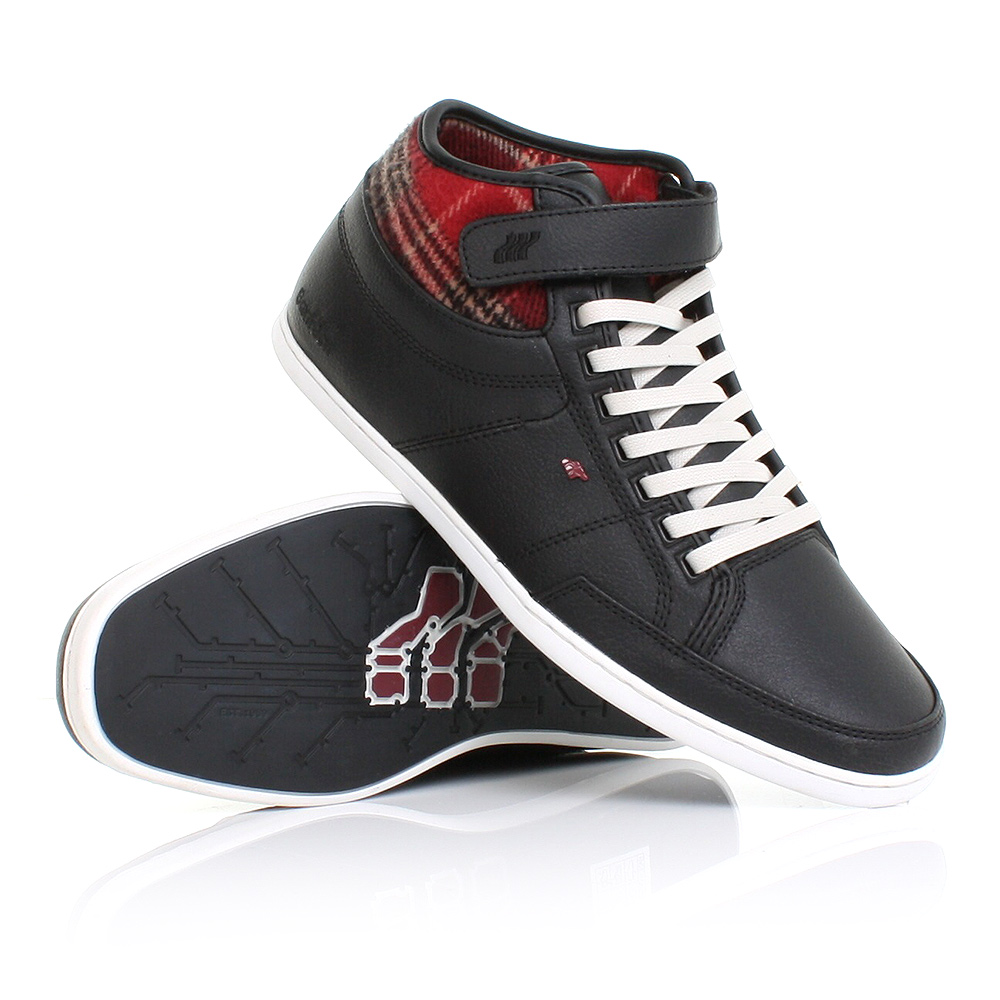 mens boxfresh swich flannel leather hi top trainers shoes smart casual size 6 12 ebay. Black Bedroom Furniture Sets. Home Design Ideas