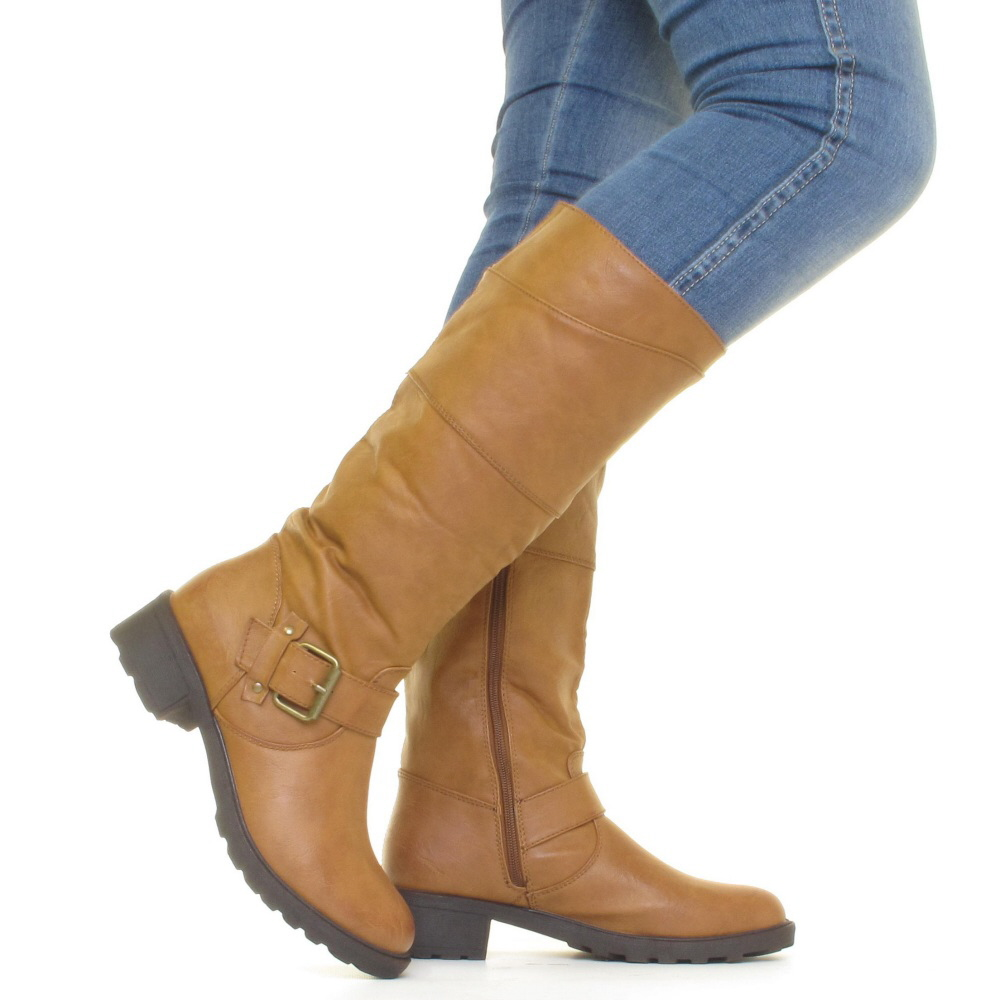 Cool  WOMENS CASUAL OVER THE KNEE HIGH LADIES WINTER RIDING BOOTS SHOES SIZE