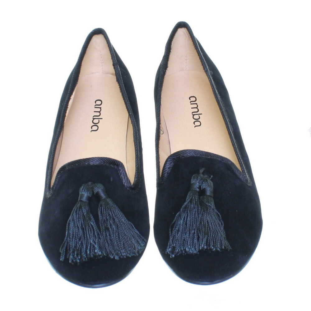 ballerinas pumps damen samt quaste slipper flach arbeit b ro 36 41 neu ebay. Black Bedroom Furniture Sets. Home Design Ideas