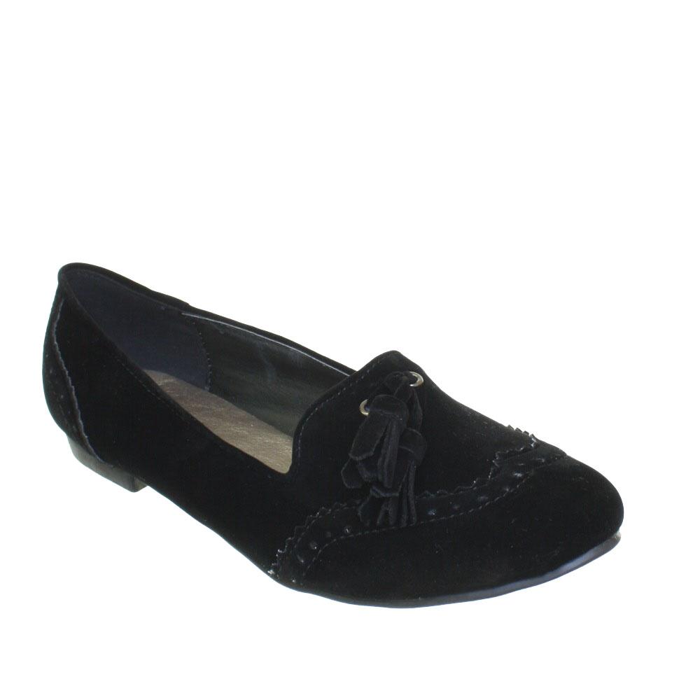 Womens Flat Slipper Loafer Ballet Pump Las Tel Work Office