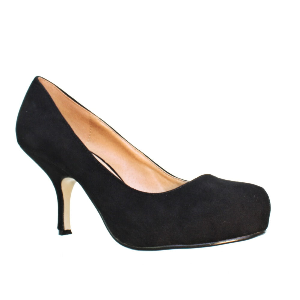 Black Small Heel Shoes - Is Heel