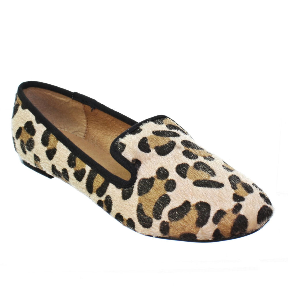 WOMENS LEOPARD PRINT SLIPPER LOAFER FLATS PUMPS LADIES SHOES SIZE 3-8 | EBay