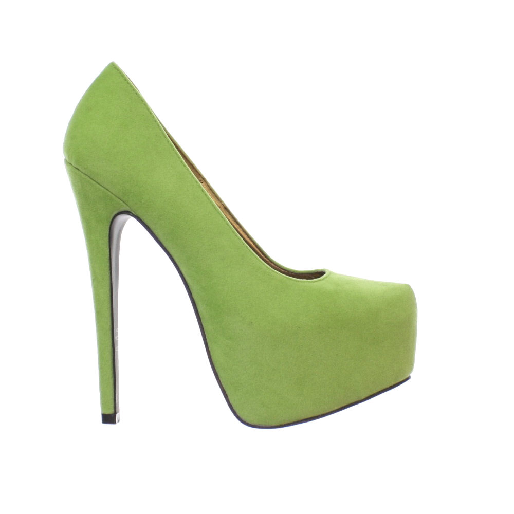 womens lime green platform stiletto high heel