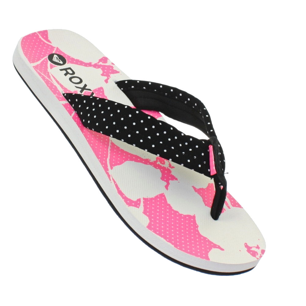 womens roxy tallia neon pink white black ladies sandals. Black Bedroom Furniture Sets. Home Design Ideas