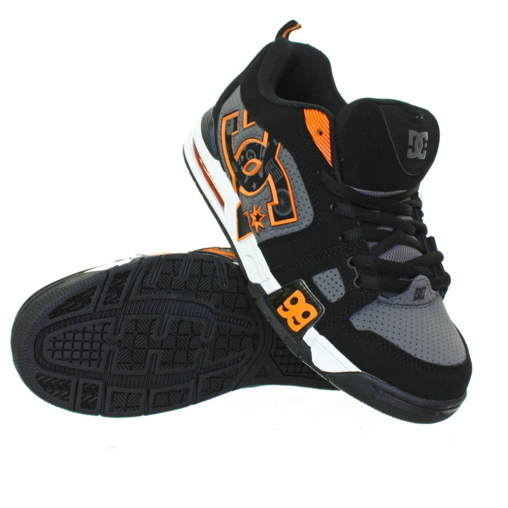 Globe Skate Shoes Black Gray Red