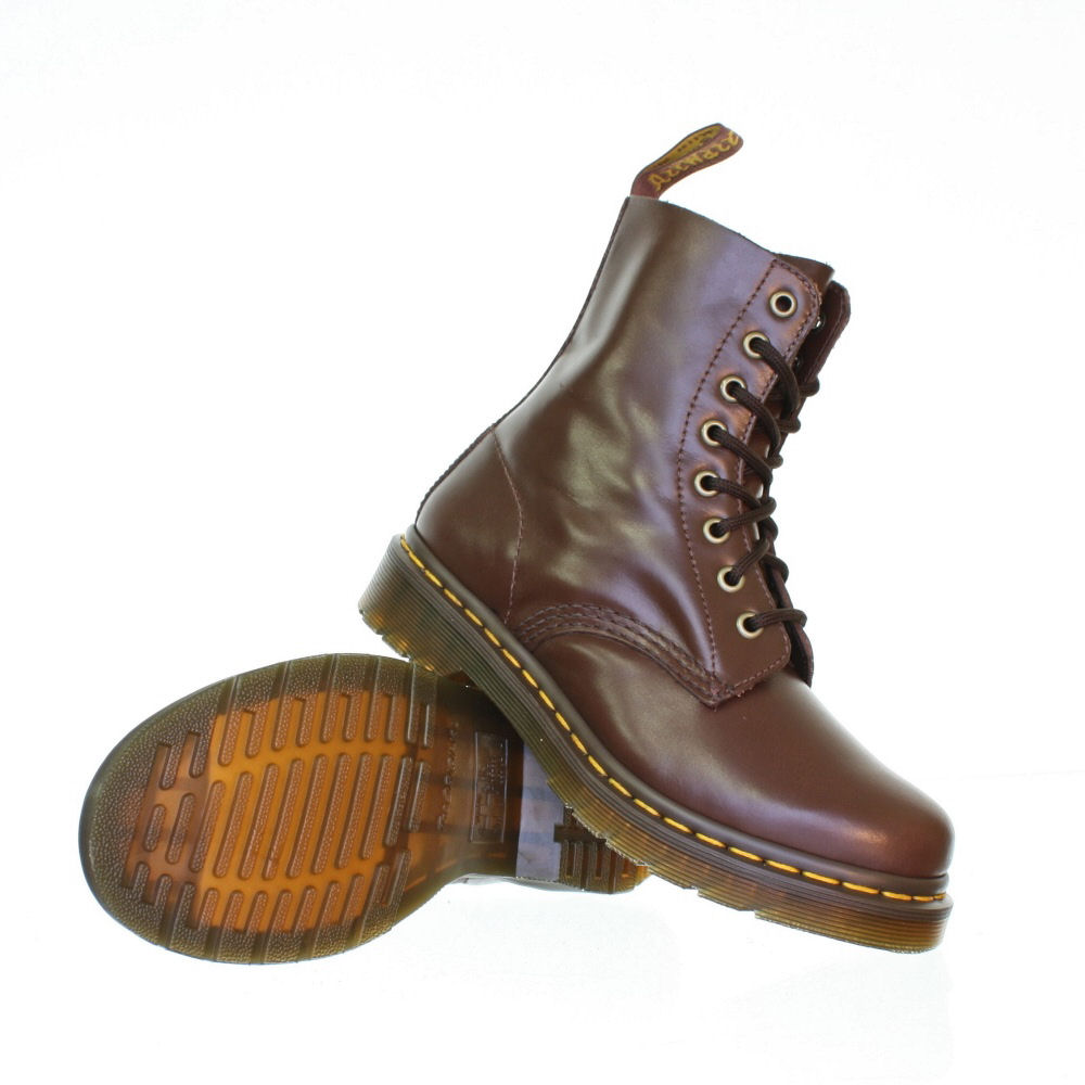 womens dr martens pascal brown leather lace up dm