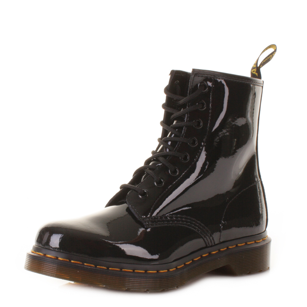 dr martens 1460 black patent lamper retro dm boots uk size dr martens. Black Bedroom Furniture Sets. Home Design Ideas