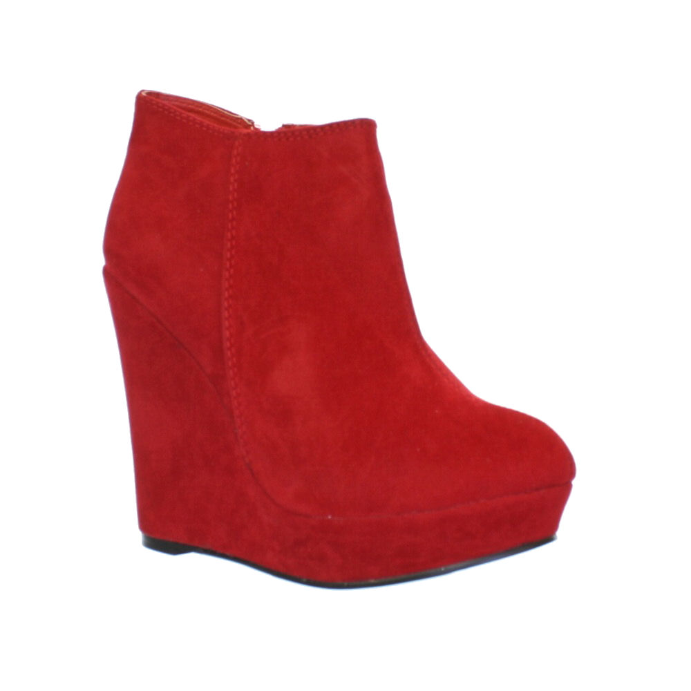 Simple Steve Madden Trishia Women Suede Red Ankle Boot Boots