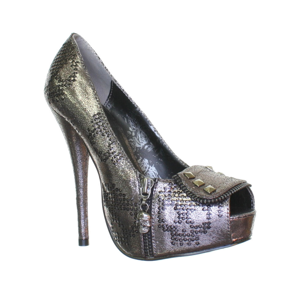 JustFab Finley Pewter Women Shoes