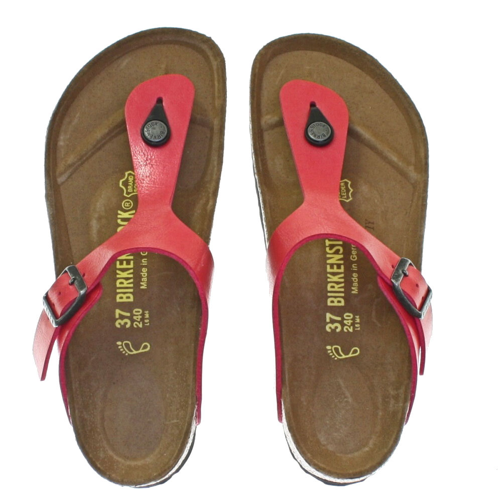 birkenstock ladies gizeh sandal-red