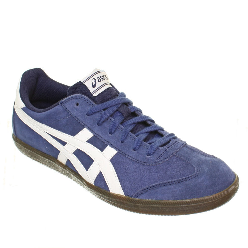 mens asics tokuten navy white sports casual trainers shoes