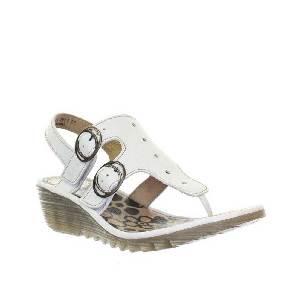 sandalen damen fly london wei osmo leder keilabsatz gr 36 41 ebay. Black Bedroom Furniture Sets. Home Design Ideas