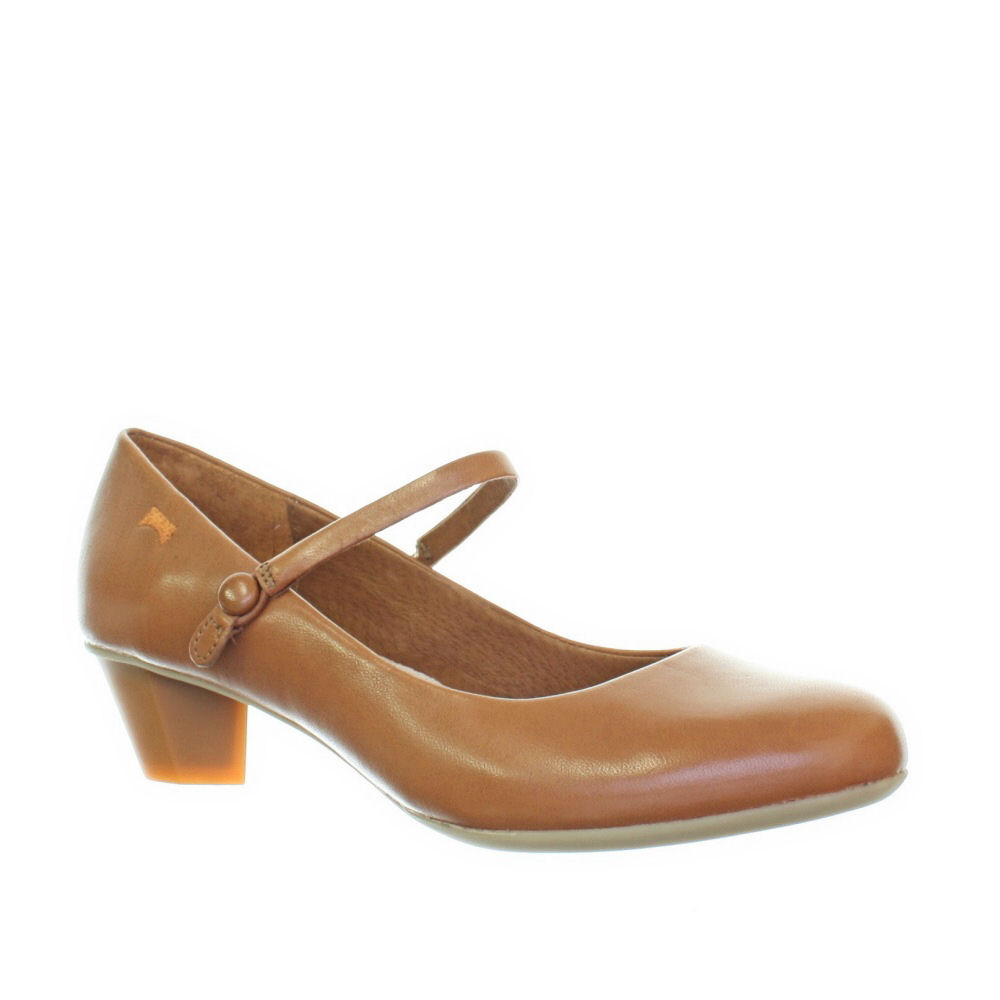Restricted Iris Tan Shoes for Women