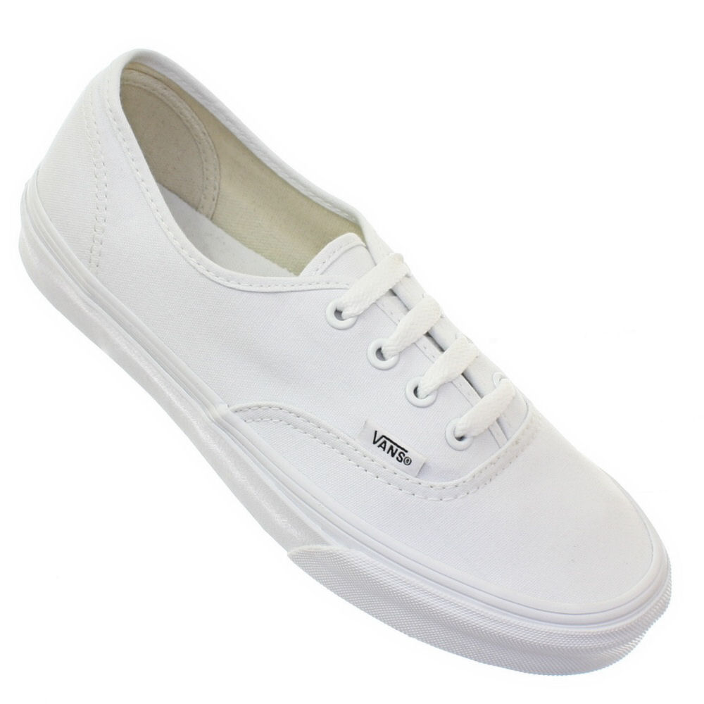 WOMENS-VANS-AUTHENTIC-TRUE-WHITE-VULCANISED-LACE-UP-CASUAL-TRAINERS-SIZE-3-8