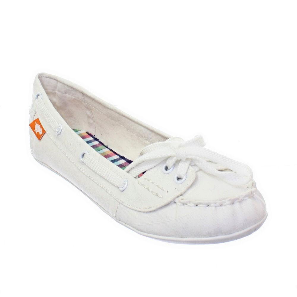 Ladies White Deck Shoes