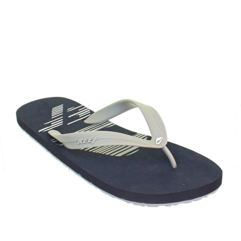 Image is loading MENS REEF PULSE GREY NAVY FLIP FLOPS RUBBER