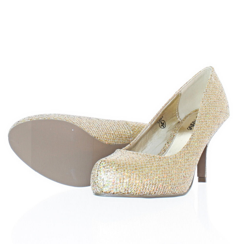 Glitter Kitten Heel Shoes