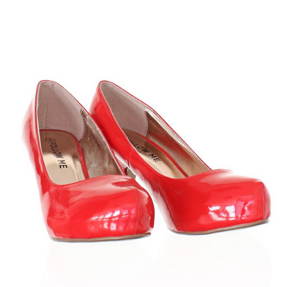 Red Patent Kitten Heel Shoes