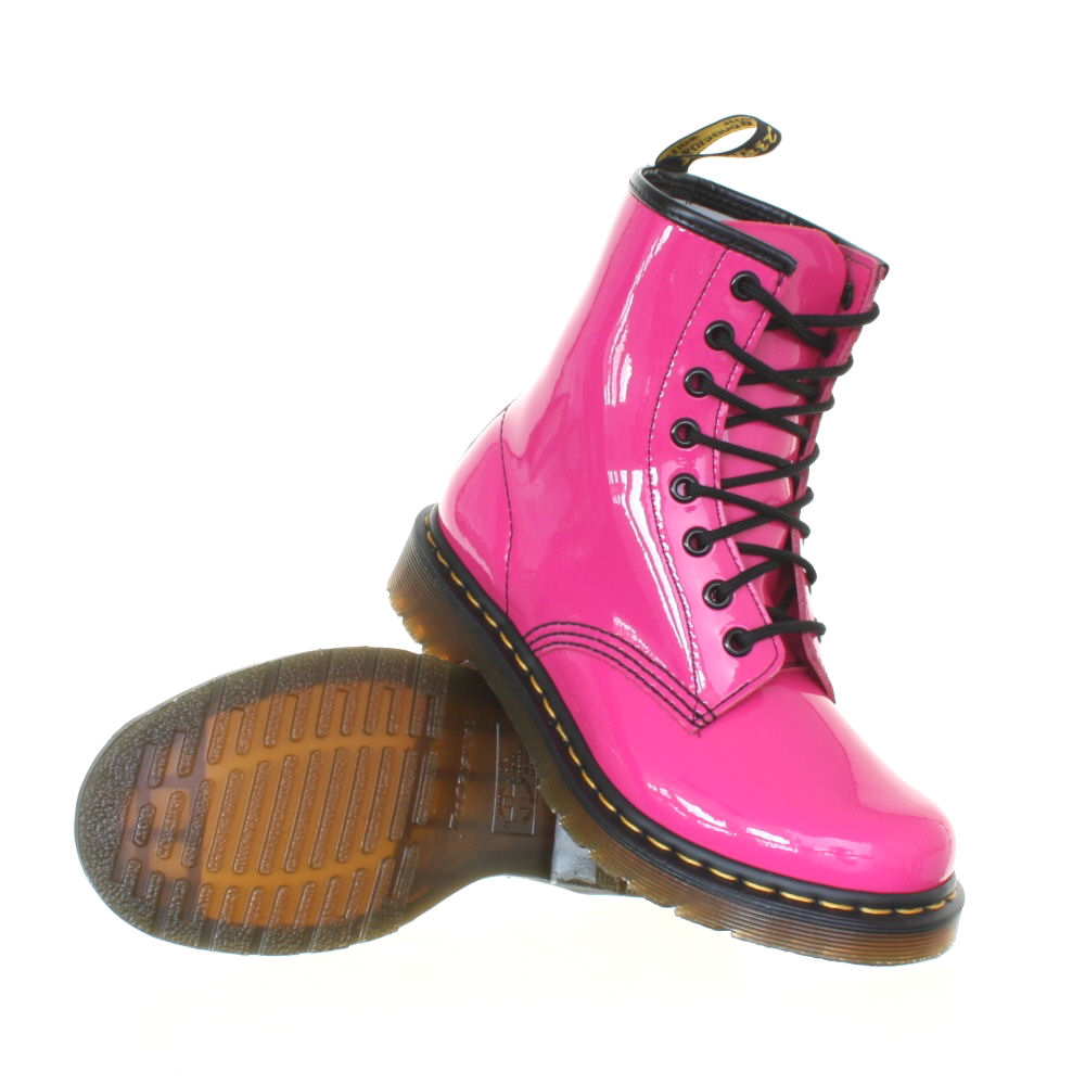 womens dr martens 1460 pink patent ler retro dm