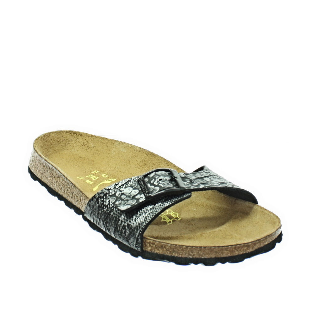 women birkenstock madrid papillio anaconda snakeskin print sandals size 5 10. Black Bedroom Furniture Sets. Home Design Ideas