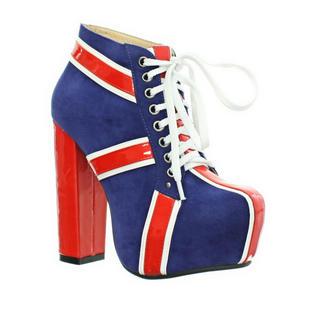 Union Jack Block Heel Platform Boots Preview
