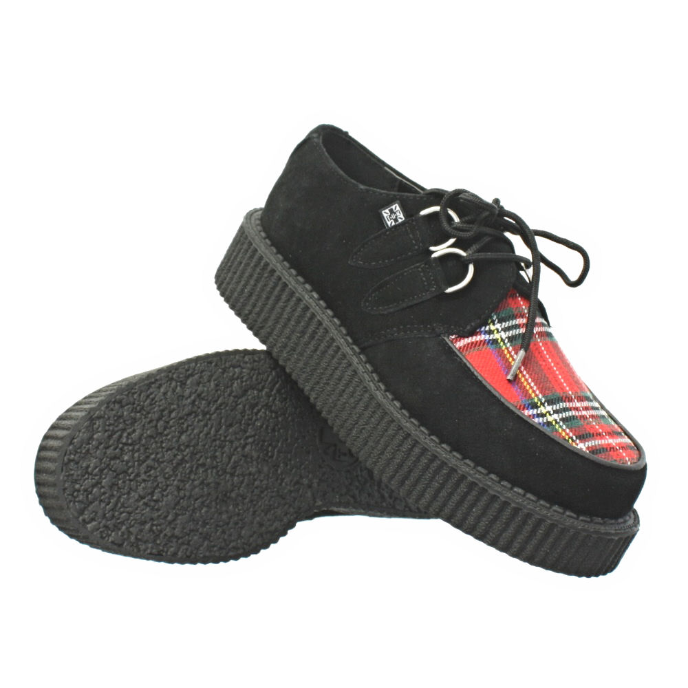 womens mens tuk shoes black tartan suede mondo lo brothel