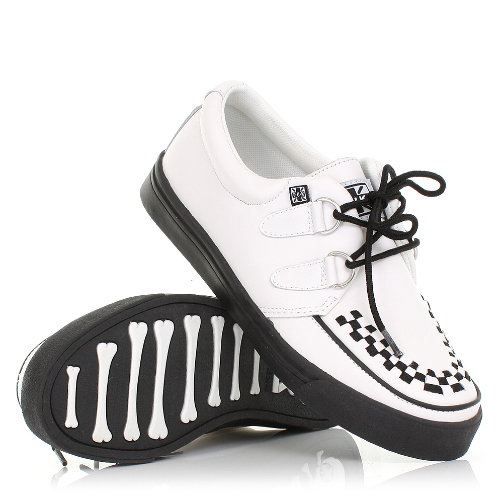 WOMENS MENS TUK SHOES WHITE LEATHER BROTHEL CREEPER SNEAKERS SHOES ...