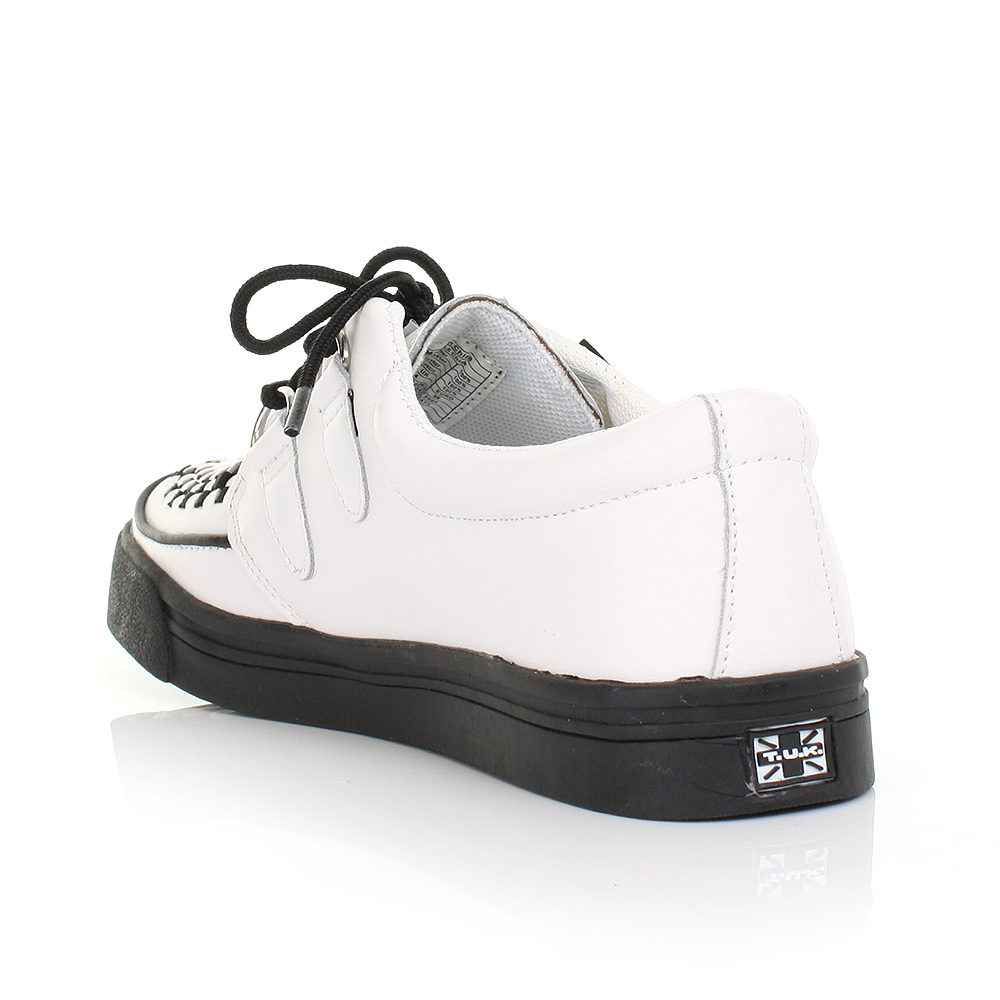 womens mens tuk shoes white leather brothel creeper