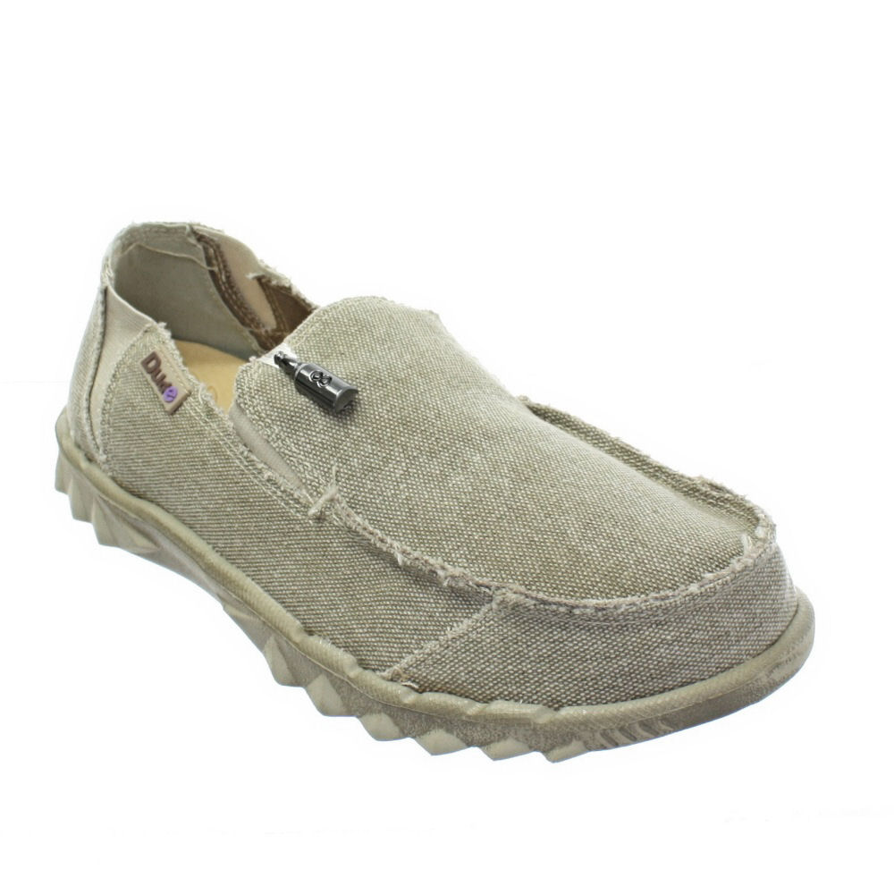 MENS DUDE FARTY BEIGE CANVAS DECK BOAT BEACH LIGHTWEIGHT SHOES  SIZE 7-12