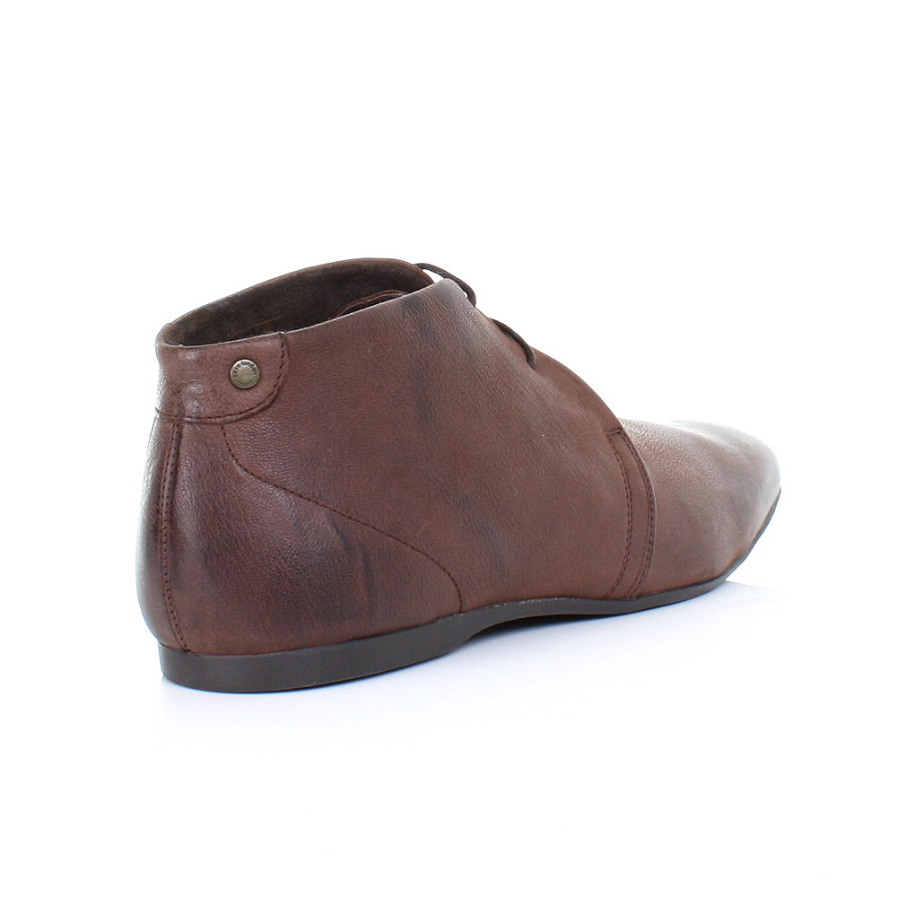 mens base zone softy brown leather lace up ankle