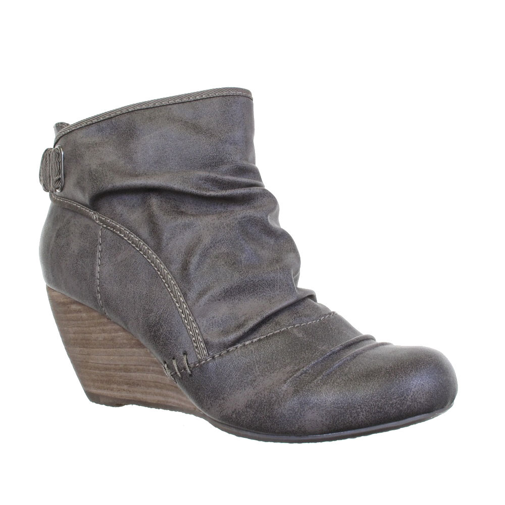 blowfish womens hichi wedge ankle boots size 3 8 ebay