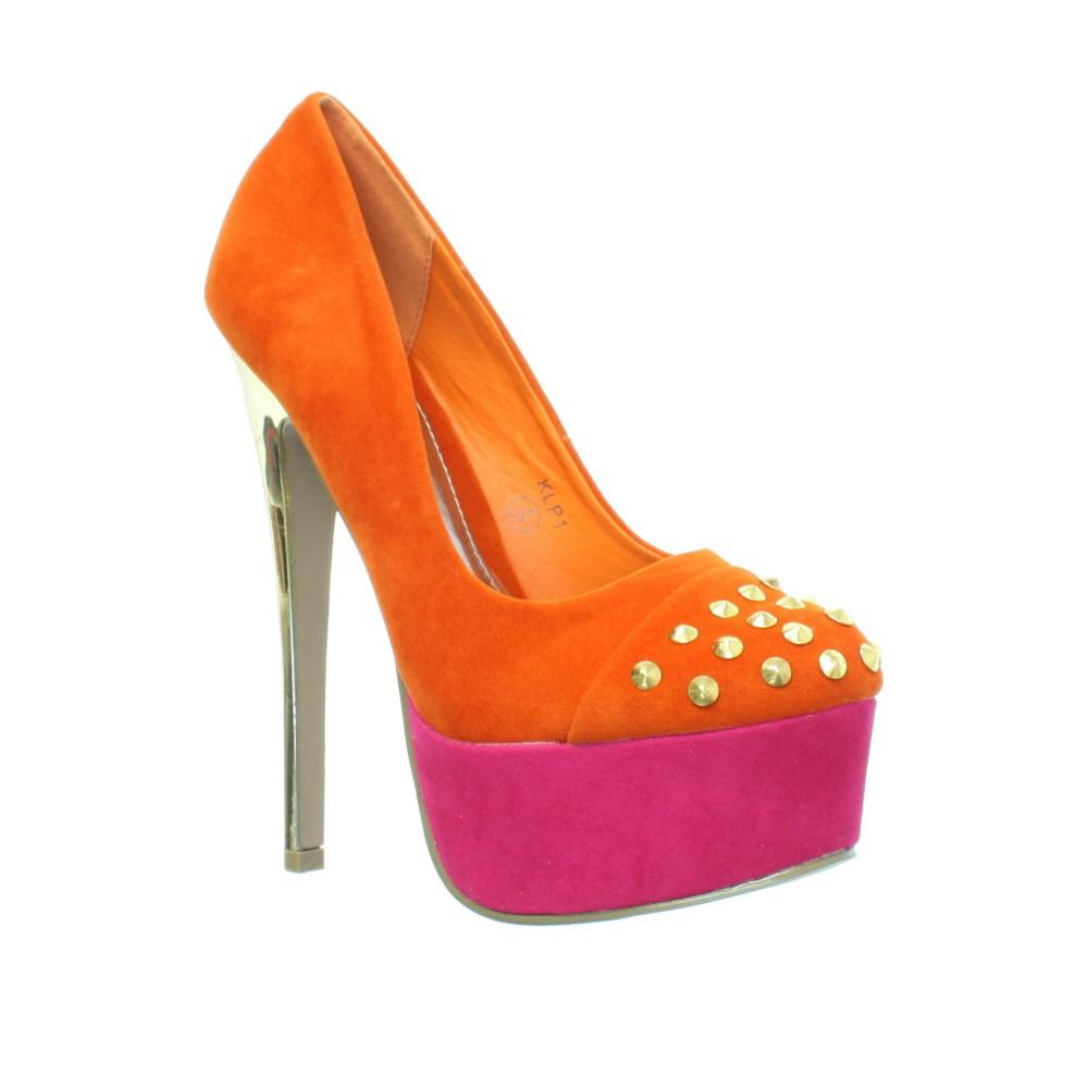 orange and gold high heels gold high heel sandals. Black Bedroom Furniture Sets. Home Design Ideas
