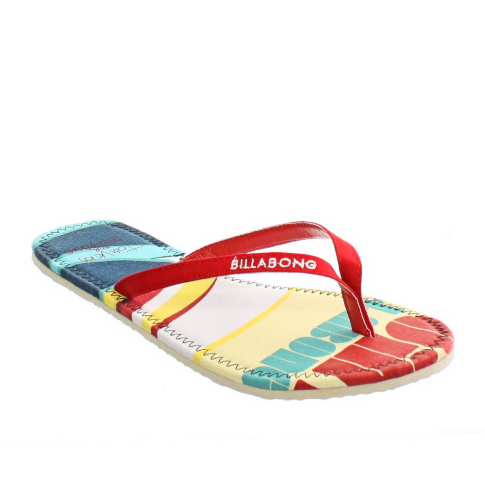 WOMENS-BILLABONG-TOM-WHITE-MULTICOLOUR-LADIES-SURF-BEACH-FLIP-FLOPS-SIZE-3-8