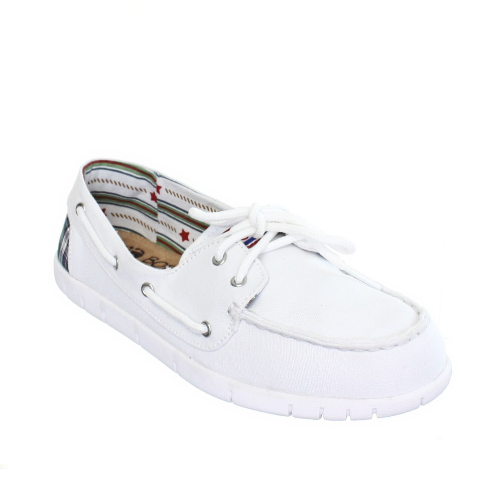 WOMENS-SKECHERS-BOBS-PLANET-WHITE-TOPSIDE-LADIES-DECK-BOAT-SHOES-SIZE