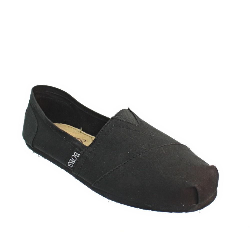 Bobs Black Canvas Shoes
